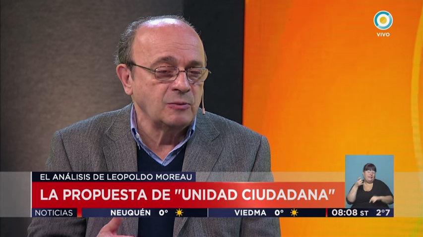 Leopoldo Moreau: Unidad Ciudadana representa a los sectores agredidos
